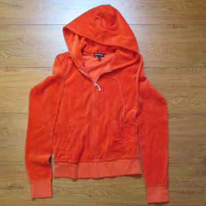 EUC Juicy Couture S Orange Velour Hoodie